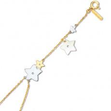 Zlatý náramek Cacharel XD601TN2, materiál žluté, růžové a bílé zlato 585/1000, perleť, váha: 3.80g