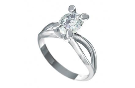 Zásnubní prsten Dianka 819, materiál bílé zlato 585/1000, zirkon ovál 8x6mm, váha: u velikosti 54mm