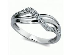 Briliantový prsten Danfil DF2082, materiál bílé zlato 585/1000, 15x briliant SI1/G = 0.150 ct, váha: