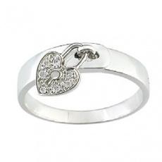 Zlatý prsten Cacharel XD009GB3, materiál bílé zlato 585/1000, diamant-0.04 ct, váha: 4.00g