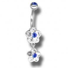 Piercing s krystaly Swarovski Flower02 G