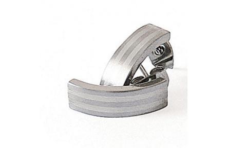 Náušnice z oceli a stříbra 5580