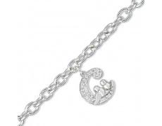 Stříbrný náramek Cacharel CSB112Z18, materiál stříbro 925/1000, zirkon, váha: 9.10g