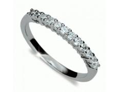 Briliantový prsten Danfil DF1971, materiál bílé zlato 585/1000, 12x briliant SI1/G = 0.330 ct, váha: