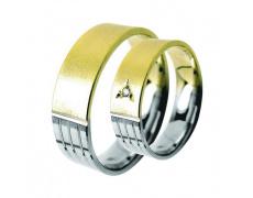 Snubní prsteny Lucie Gold Charlotte S-166, materiál bílé, žluté zlato 585/1000, zirkon, váha: průměr