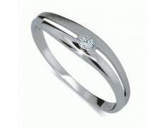 Briliantový prsten Danfil DF1661, materiál bílé zlato 585/1000, 1x briliant SI1/G = 0.035 ct, váha:
