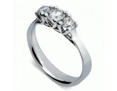 Briliantový prsten Danfil DF1924, materiál bílé zlato 585/1000, 3x briliant SI1/G = 0.677 ct, váha: