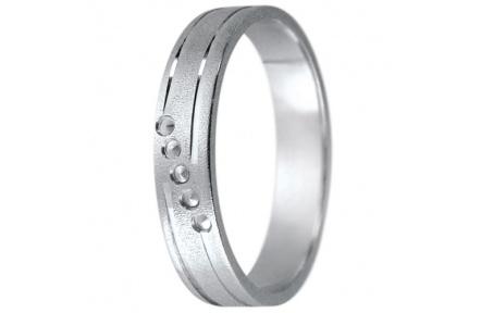 Snubní prsteny kolekce K3, materiál bílé zlato 585/1000 , váha: u velikosti 54mm - 3.30g