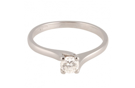 Zlatý Prsten Soliter 224 00091 07, materiál bílé zlato 585/1000, 1x briliant = 0.249 ct, váha: 1.95g