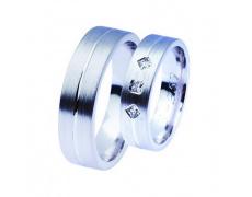 Snubní prsteny Lucie Gold Charlotte S-259, materiál bílé zlato 585/1000, zirkon, váha: průměrná 12.5