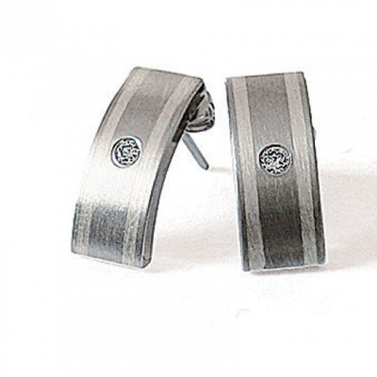 Náušnice z oceli a stříbra 5691