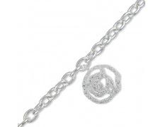 Stříbrný náramek Cacharel CSB199Z18, materiál stříbro 925/1000, zirkon, váha: 14.00g