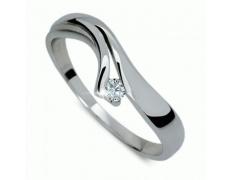 Briliantový prsten Danfil DF1853, materiál bílé zlato 585/1000, 1x briliant SI1/G = 0.075 ct, váha: