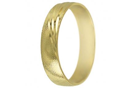 Snubní prsteny kolekce SP5-D, materiál žluté zlato 585/1000 , váha: u velikosti 54mm - 3.30g