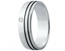 Snubní prsteny kolekce ELISKA_15, materiál bílé zlato 585/1000, ruthenium, zirkon, váha: u velikosti