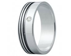 Snubní prsteny kolekce ELISKA_04, materiál bílé zlato 585/1000, ruthenium, zirkon, váha: u velikosti