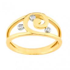Zlatý prsten Cacharel XY001BB3, materiál žluté zlato 585/1000, diamant-0.03 ct, váha: 3.50g
