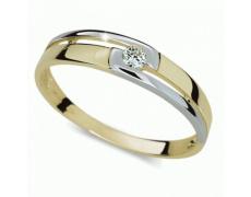 Briliantový prsten Danfil DF1793Z, materiál žluté zlato 585/1000, 1x briliant SI1/G = 0.065 ct, váha