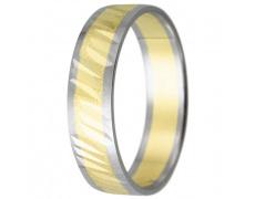 Snubní prsteny kolekce HARMONY22, materiál bílé, žluté zlato 585/1000, váha: u velikosti 54mm - 3.30