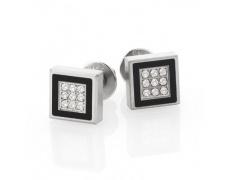 Náušnice s diamanty TeNo De Luxx 034-13P02-D36