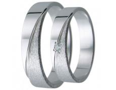 Snubní prsteny kolekce D8, materiál bílé zlato 585/1000, zirkon , váha: u velikosti 54mm - 3.20g
