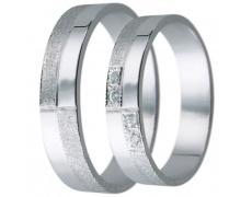 Snubní prsteny kolekce D7, materiál bílé zlato 585/1000, zirkon , váha: u velikosti 54mm - 3.00g
