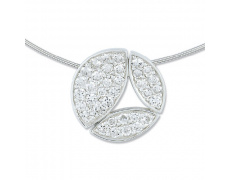 Stříbrný náhrdelník Cacharel CSC098Z40, materiál stříbro 925/1000, zirkon, váha: 8.40g