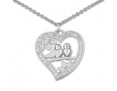Stříbrný náhrdelník Cacharel CSC109Z40, materiál stříbro 925/1000, zirkon, váha: 6.10g