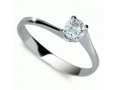 Briliantový prsten Danfil DF1957, materiál bílé zlato 585/1000, 1x briliant SI1/G = 0.330 ct, váha: