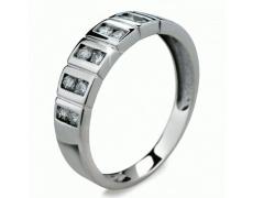 Briliantový prsten Danfil DF2079, materiál bílé zlato 585/1000, 12x briliant SI1/G = 0.402 ct, váha: