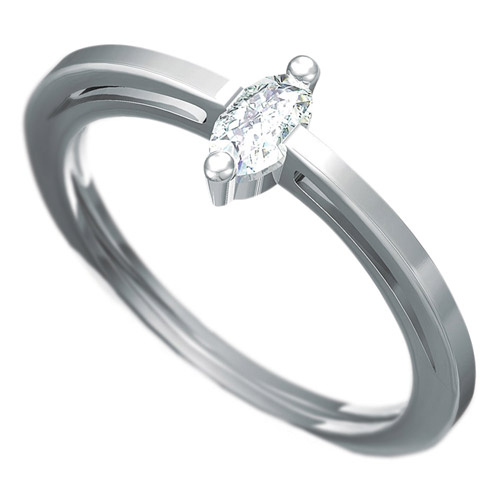 Zásnubní prsten Dianka 809, materiál bílé zlato 585/1000, zirkon ovál 5x3mm, váha: u velikosti 54mm