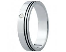 Snubní prsteny kolekce ELISKA_25, materiál bílé zlato 585/1000, ruthenium, zirkon, váha: u velikosti