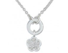 Stříbrný náhrdelník Cacharel CSC020Z42, materiál stříbro 925/1000, zirkon, váha: 4.90g