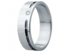 Snubní prsteny kolekce ELISKA_01, materiál bílé zlato 585/1000, ruthenium, zirkon, váha: u velikosti
