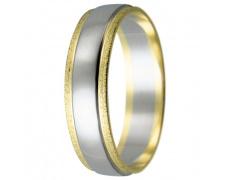 Snubní prsteny kolekce HARMONY13, materiál bílé, žluté zlato 585/1000, váha: u velikosti 54mm - 3.10