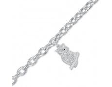 Stříbrný náramek Cacharel CSB227Z18, materiál stříbro 925/1000, zirkon, váha: 13.60g