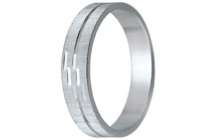 Snubní prsteny kolekce K6, materiál bílé zlato 585/1000 , váha: u velikosti 54mm - 3.30g