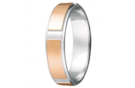 Snubní prsteny kolekce VIOLA_12-L, materiál červené, bílé zlato 585/1000, váha: u velikosti 54mm - 4