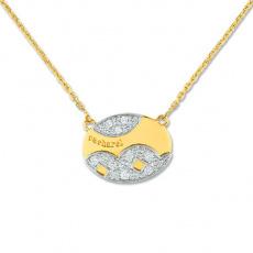 Zlatý náhrdelník Cacharel XG501XB3, materiál žluté a bílé zlato 585/1000, diamant-0.14 ct, váha: 6.1
