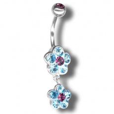 Piercing s krystaly Swarovski Flower02 H