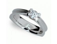 Briliantový prsten Danfil DF1992, materiál bílé zlato 585/1000, 1x briliant VS1/G= 0.393 ct, váha: 6