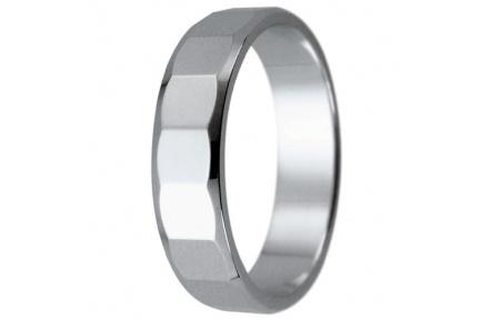 Snubní prsteny kolekce HARMONY2, materiál bílé zlato 585/1000, váha: u velikosti 54mm - 3.40g