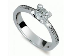 Briliantový prsten Danfil DF1961, materiál bílé zlato 585/1000, 11x briliant SI1/G = 0.802 ct, váha: