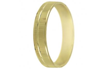 Snubní prsteny kolekce P4/H, materiál žluté zlato 585/1000 , váha: u velikosti 54mm - 2.70g