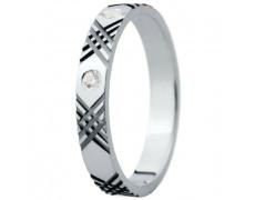 Snubní prsteny kolekce ELISKA_27, materiál bílé zlato 585/1000, ruthenium, zirkon, váha: u velikosti