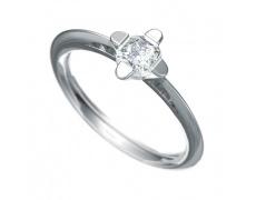 Zásnubní prsten Dianka 802, materiál bílé zlato 585/1000, zirkon 5.0mm, váha: u velikosti 54mm - 2.0