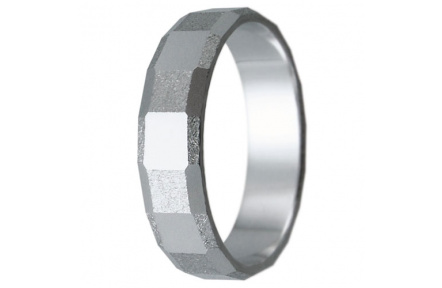 Snubní prsteny kolekce HARMONY6, materiál bílé zlato 585/1000, váha: u velikosti 54mm - 3.20g