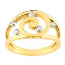 Zlatý prsten Cacharel XY002BB3, materiál žluté zlato 585/1000, diamant-0.08 ct, váha: 4.50g