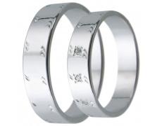 Snubní prsteny kolekce D18, materiál bílé zlato 585/1000, zirkon , váha: u velikosti 54mm - 3.00g