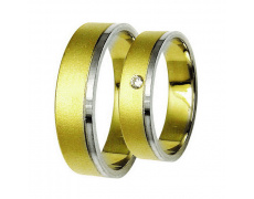 Snubní prsteny Lucie Gold Charlotte S-207, materiál bílé, žluté zlato 585/1000, zirkon, váha: průměr